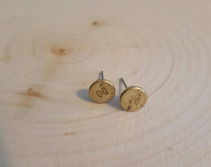 22 bullet earring studs