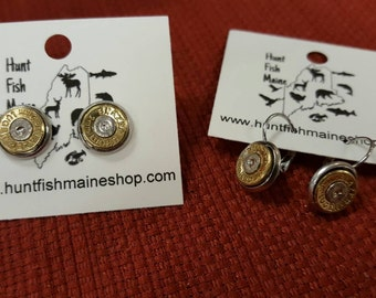 2 Pairs of 9mm earrings with or without stones,  1 pair studs and 1 pair dangles