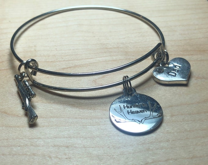 Huntin in heaven bangle bracelet