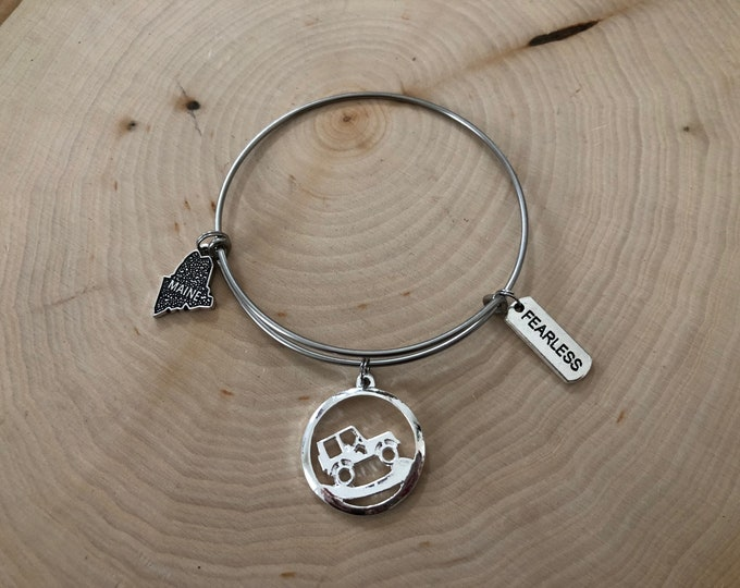 Maine Jeep Bangle Bracelet