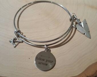 Follow your arrow bangle bracelet