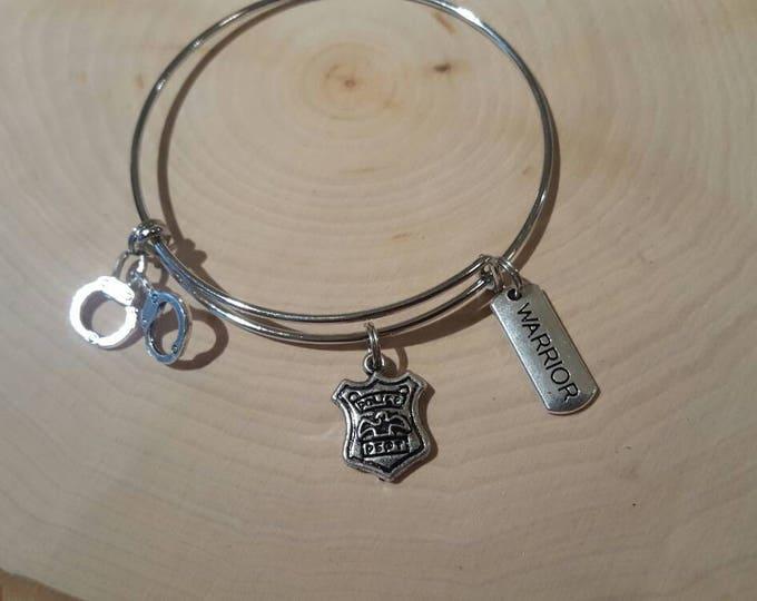 Police bangle bracelet