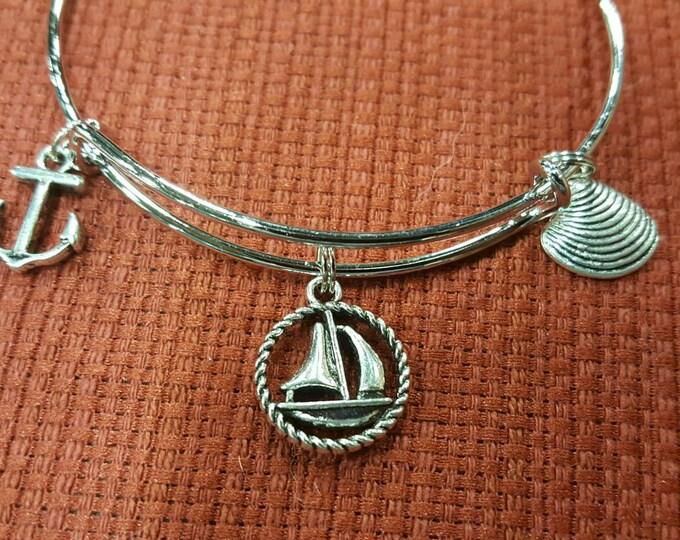Sailing themed ocean bracelet