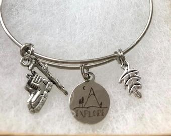 Explore bangle bracelet