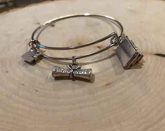 Graduation bangle bracelet