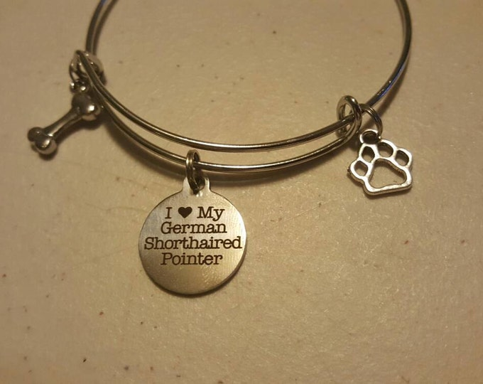German Shorthaired Pointer dog bangle
