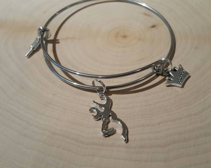 Hunting princess bangle bracelet