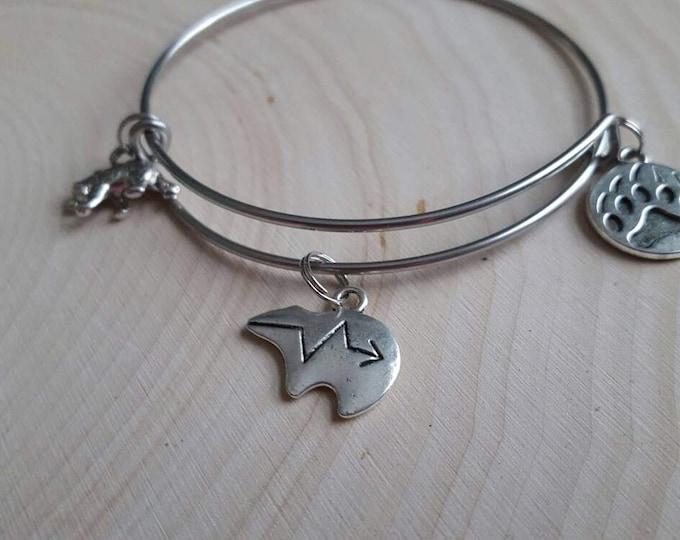 Bear bangle bracelet