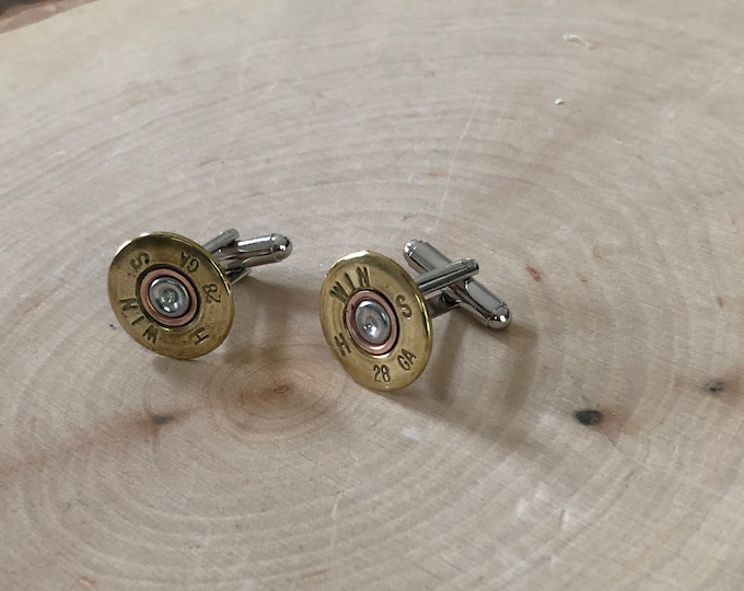 Shot gun shell cuff links