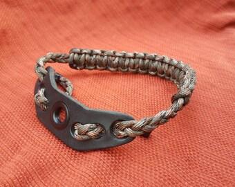 Camo wrist sling with leather yoke
