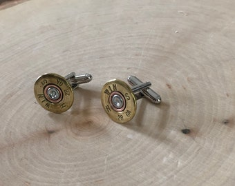 Shot gun shell cuff links