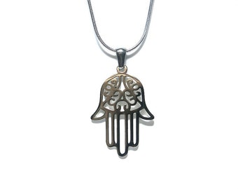 Hasma Hand Stainless Steel - Necklace