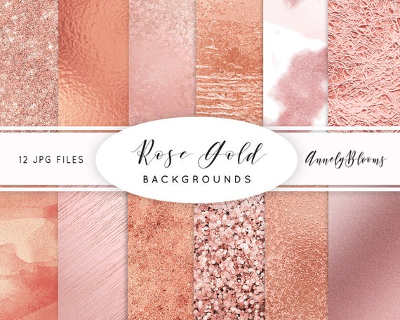 Rode Gold Digitale Papier Rose Gold Clipart Rosegold Glitter Etsy