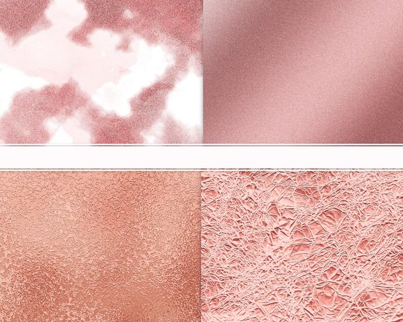 Rode Oro Digitale Carta Clipart Oro Rosa Oro Rosa Glitter Etsy