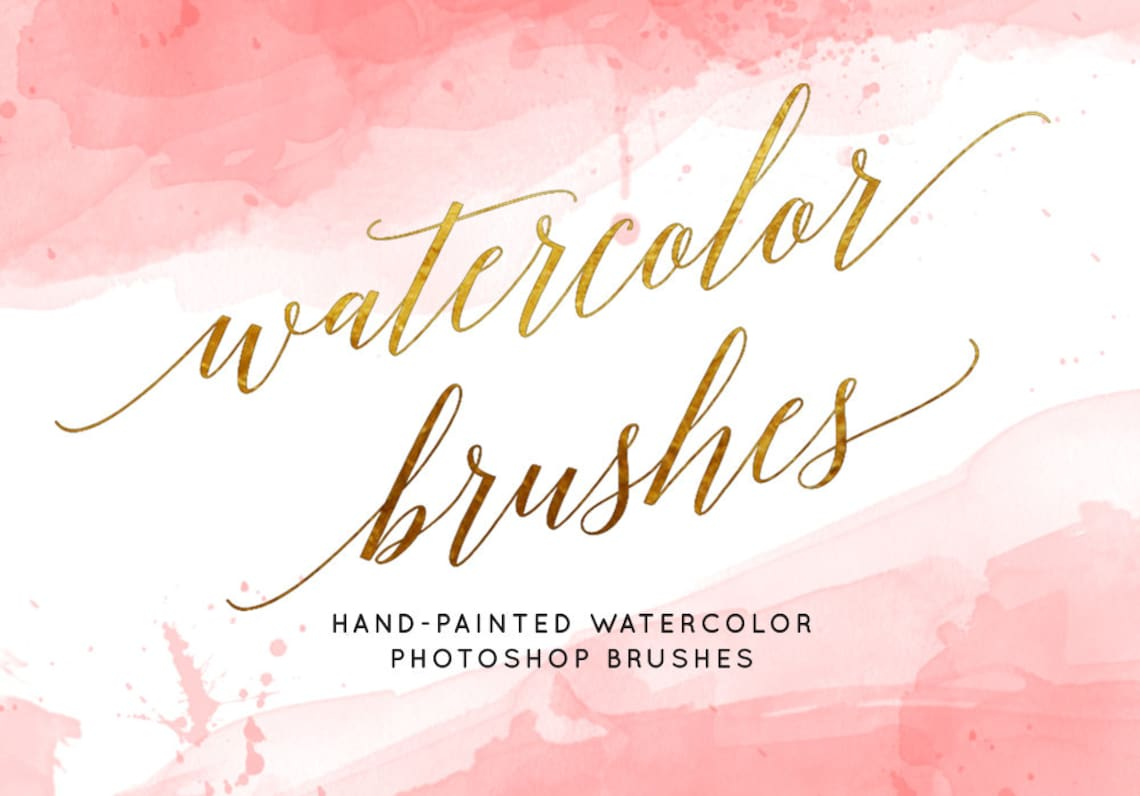 Watercolor brushes Photoshop brushes Watercolor clipart image 0