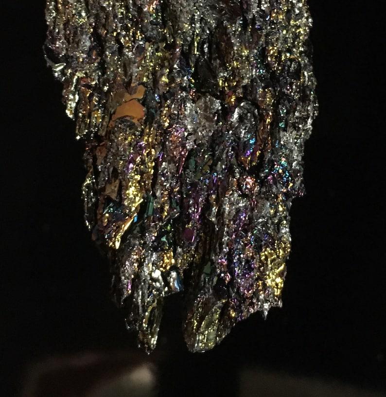 Carborundum Sparkly Stone multicolor metallic surface Trendy gift Healing  crystal Dark crystal Magical Stone  Stardust