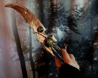 Enchanted Forest Dagger Weapon Knife Blade Fantasy Fairytale Folklore Cosplay Costume Witch Wizard Warlock Elf Elven Goblin Troll