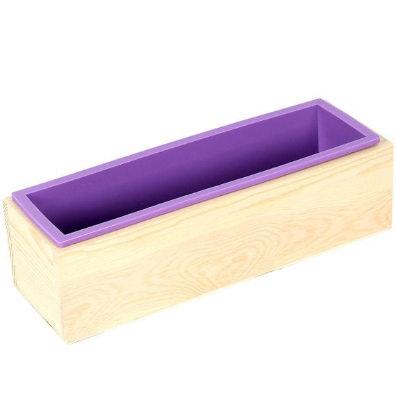 Rose Rectangular Cake Mold Flexible Silicone Soap Mold Soap Candle Cuboid With Bamboo Box