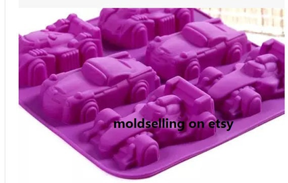 DIY Car Shape Cake Mold Soap Flexible Silicone Mould For Candy Chocolate Deco AL
