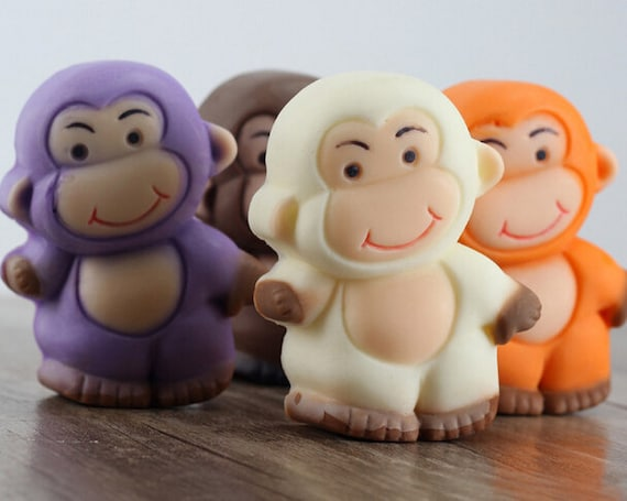 flexible Silicone MONKEY mold for fondant polymer clay wax soap resin