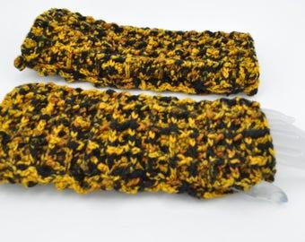 Fingerless gloves for women / Long arm warmers / crocheted gift for sister, girlfriend, wife / birthday gift