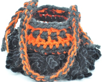 Halloween Bag for Trick or Treating, crochet eco friendly bag