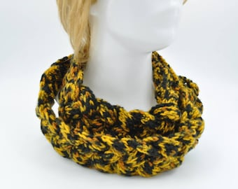 Crocheted Braided Scarf / Women Cowl necklace / Trendy women clothing / winter fashion Black Friday Sale