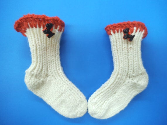 e2c3c8d3f812 White Hand Knit Socks newborn baby socks wool baby socks