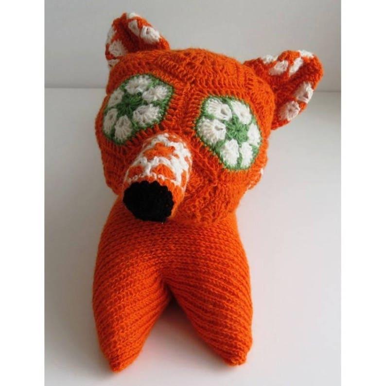 Amigurumi fox stuff animal fox plush toy crochet fox animal image 0