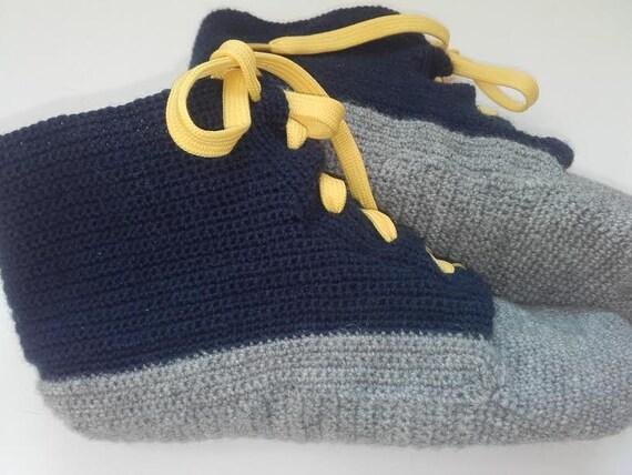 ebfed540a6e Wool socks wool slippers Men Converse Slippers Crochet