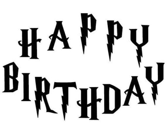 Harry Potter Happy Birthday Gift Book Folding Pattern Cut Etsy