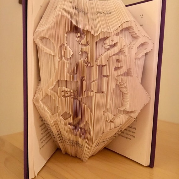 house crest harry potter book folding pattern and free