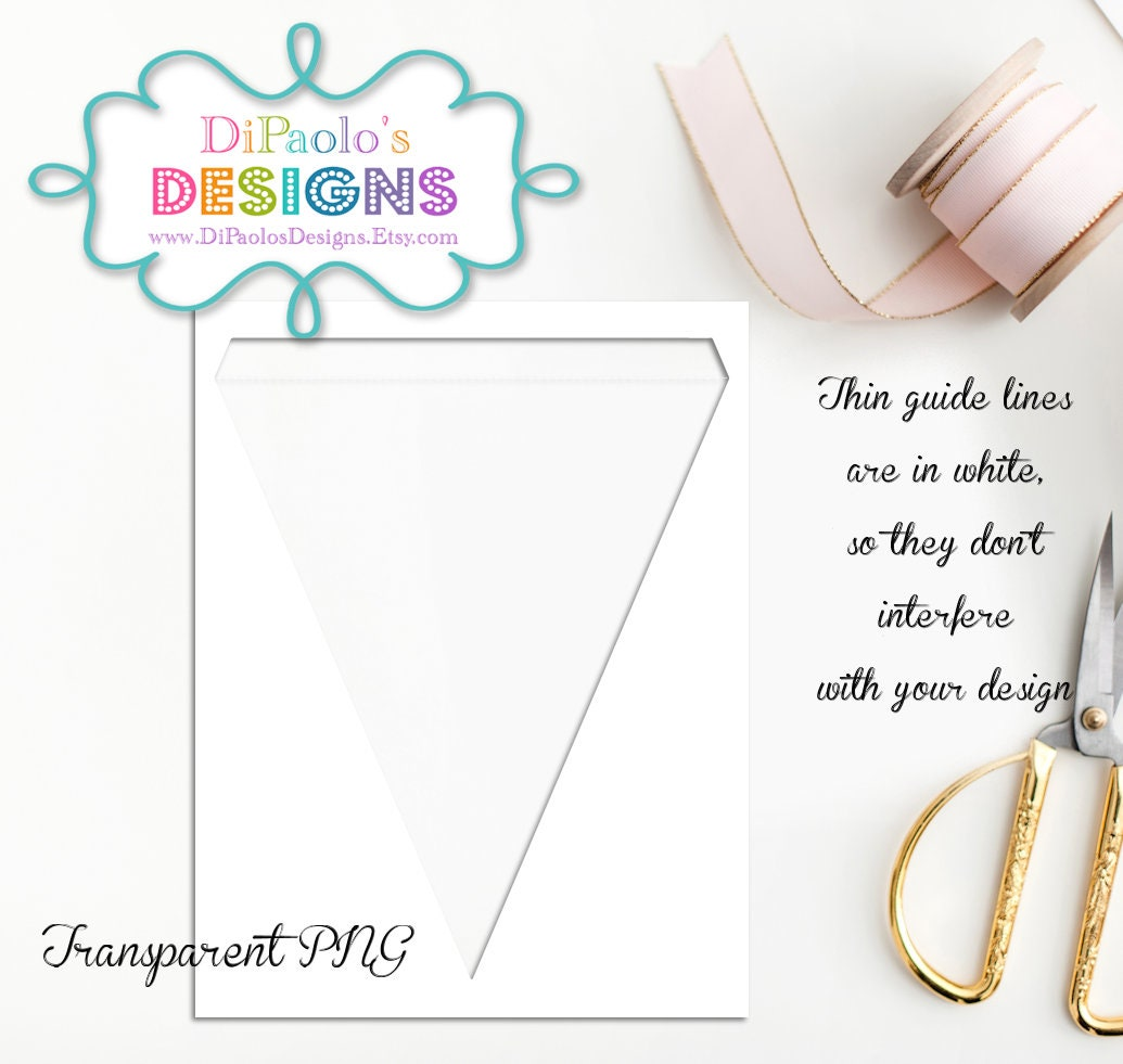 Instant Download Large Triangle Banner Template Etsy