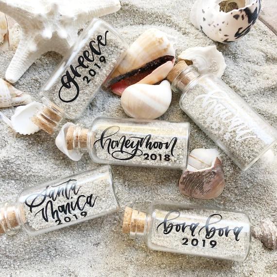 Personalized Vacation Keepsake Vacation Sand Keepsake Bottle