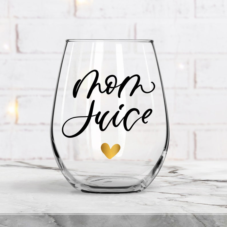 Mother/'s Day Gift Home Schooling Mom Mom Juice Stemless Wine Glass Hard Working Mother/'s Gift Stay At Home Mom NOT A FONT