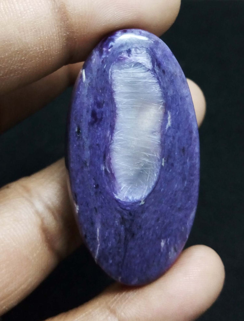 68 ct 100/% Natural bio chaorite oval cabochon gemstone For Jewelry Free Drilling