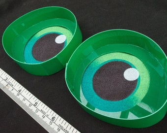 Large Green Toony follow me eyes for costumes, fursuits and mascots, 1 pair (Many colours and custom painted options) Waterproof