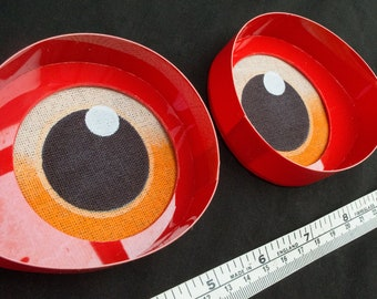 Large Red toony follow me eyes for costumes, fursuits and mascots, 1 pair (Many colours and custom painted options) Waterproof
