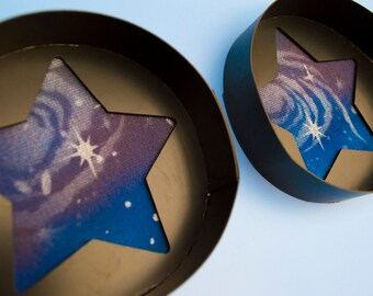 Galaxy star Large Toony follow me eyes for costumes, fursuits and mascots, 1 pair (One off)