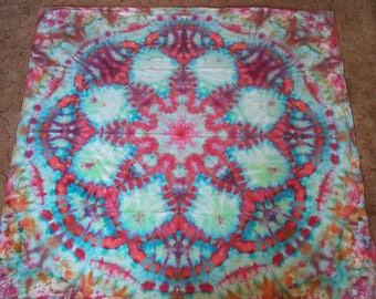 Tie Dye Tapestry (About 6' x 6')