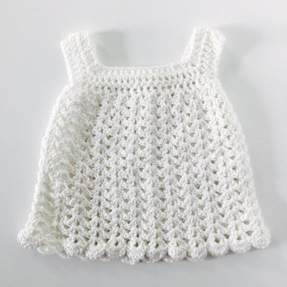 Weißes Kleid häkeln Baby Babykleid Baby-Dusche-Geschenk | Etsy
