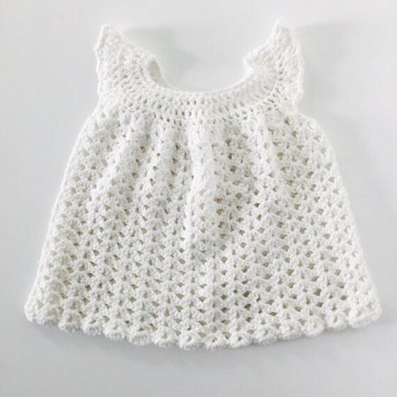 Weißen Kleid Baby Weiß Häkeln Baby Baby Dusche Geschenk Etsy