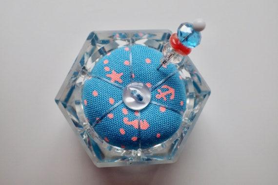 Salière coussinet - Tula Zuma rose rose Zuma en tissu - verre bleu clair étoile d8e41a