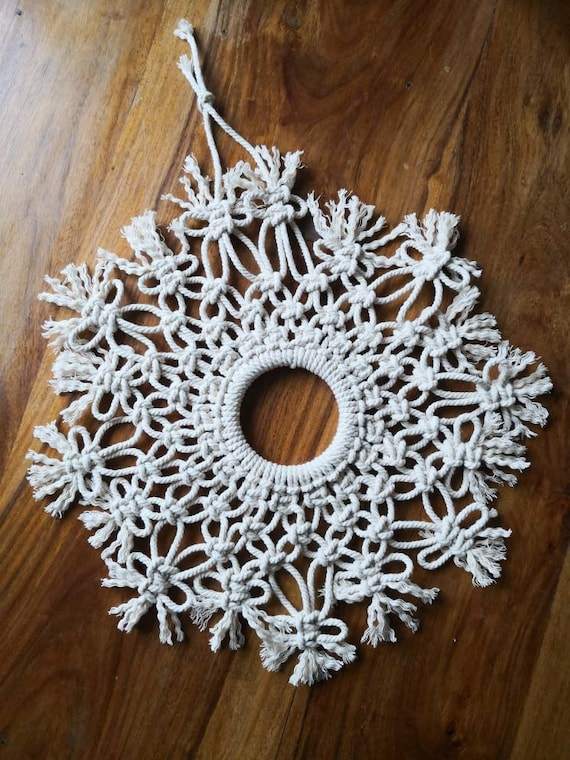 Large Macrame snowflake Christmas decoration / home decor ...