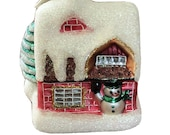 Christopher Radko Snowman 39 s Swiss Snow House NWT