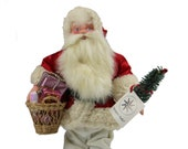 Christopher Radko Ino Schaller SATIN SANTA Candy Container 92-021-2