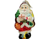 Christopher Radko Heavy Load Santa Ornament 95-019-0 NWT