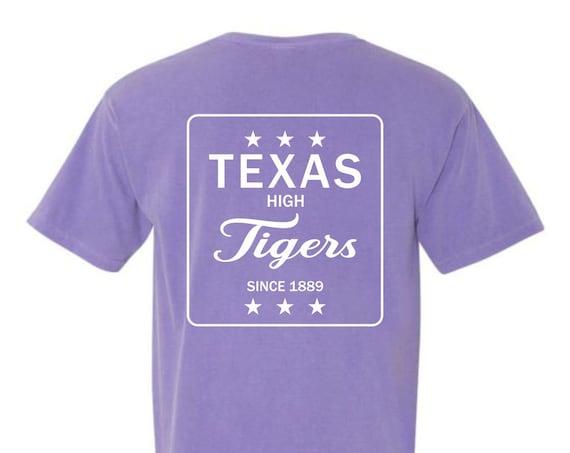 Texas High Tigers Est 1889 Comfort Colors Short Sleeve Tee