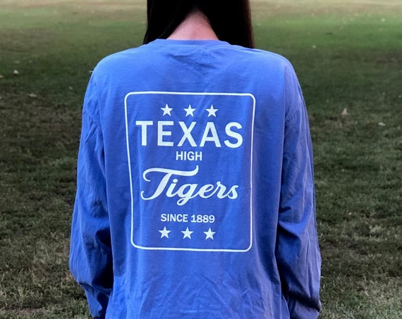 Texas High Tigers Est 1889 Comfort Colors Long Sleeve Tee