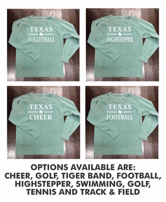 Texas {Sport or Activity} Comfort Colors Crewneck Sweatshirt